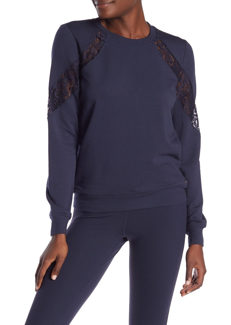 Betsey Johnson Lace Panel Sweatshirt