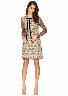 Betsey Johnson Lace Shift Neck Tie Dress