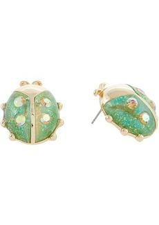 Betsey Johnson Ladybug Button Earrings