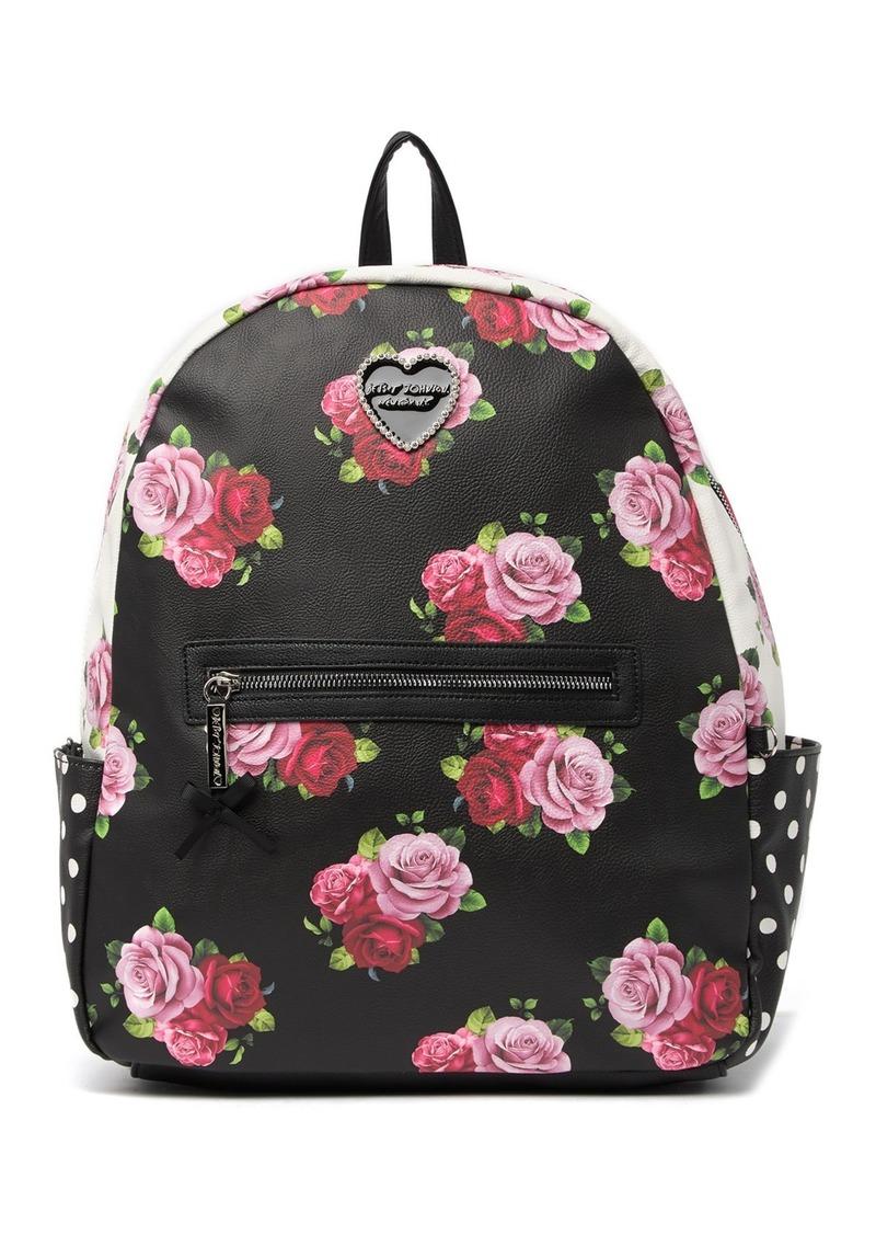 Betsey Johnson Large Printed Backpack