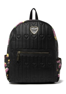 Betsey Johnson Large Printed Backpack