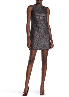Betsey Johnson Leopard Print Jacquard Shift Dress