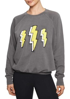 Betsey Johnson Lightning Bolt Cotton Sweatshirt
