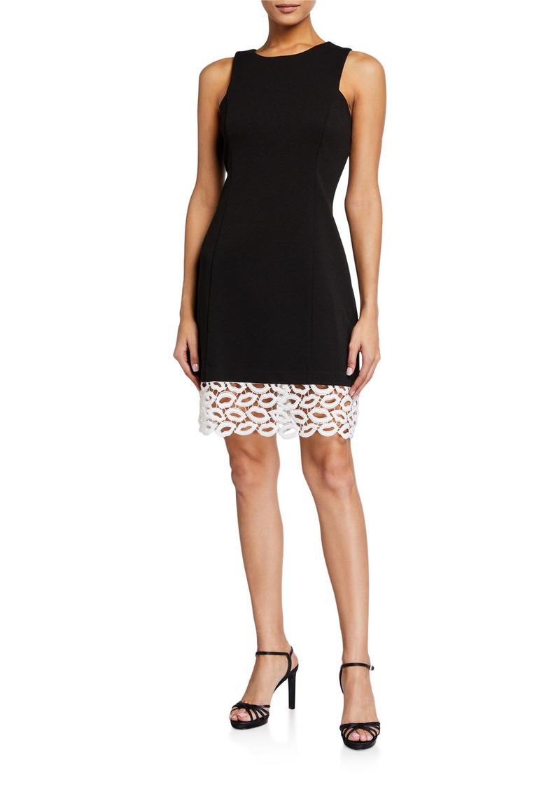 Betsey Johnson Lip-Lace Sheath Dress