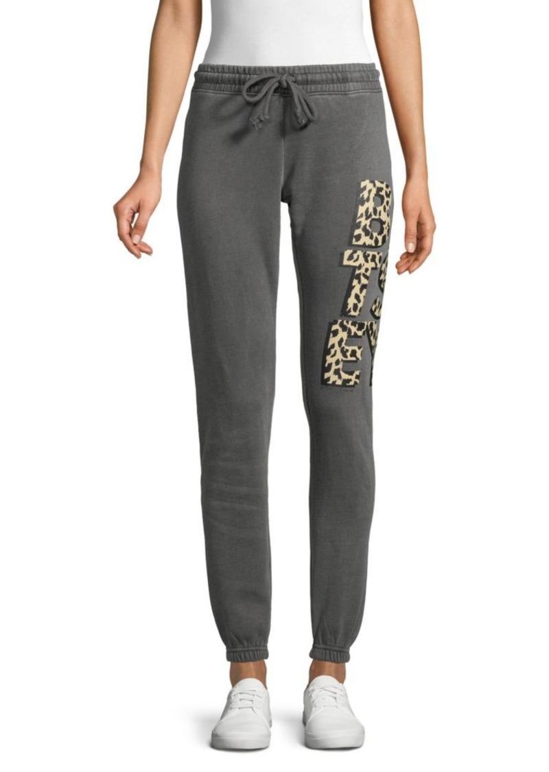 Betsey Johnson Logo Cotton-Blend Sweatpants