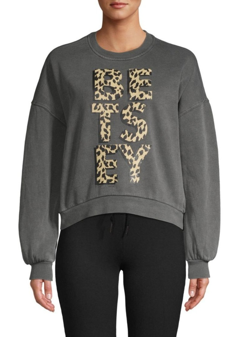 Betsey Johnson Logo Cotton-Blend Sweatshirt