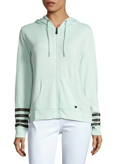 Betsey Johnson Logo Striped Hoodie