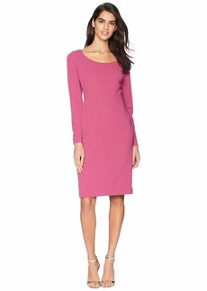 Betsey Johnson Long Sleeve Scuba Sheathe Dress
