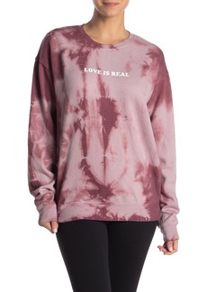 Betsey Johnson Love Is Real Tie-Dye Sweatshirt