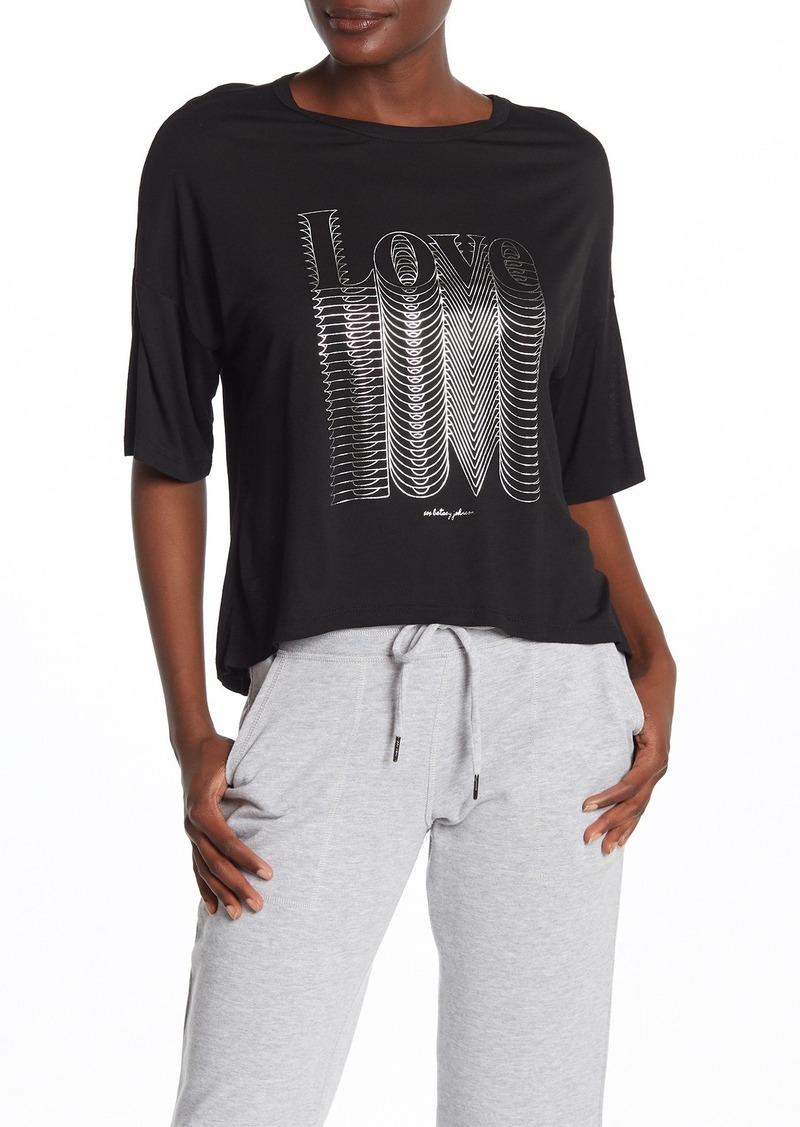 Betsey Johnson Love Short Sleeve Knit T-Shirt