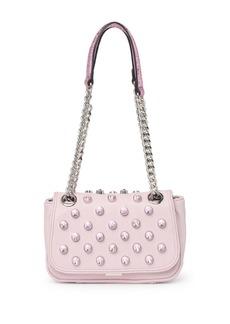 Betsey Johnson Luxe List Rhinestone Stud Shoulder Bag
