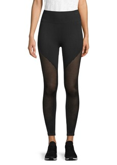 Betsey Johnson Mesh-Accented Active Leggings