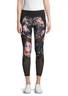 Betsey Johnson Mesh Floral Leggings