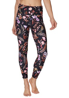 Betsey Johnson Mesh Insert Botanical Jersey Leggings