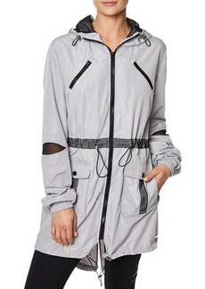 Betsey Johnson Mesh-Trim Parka Jacket