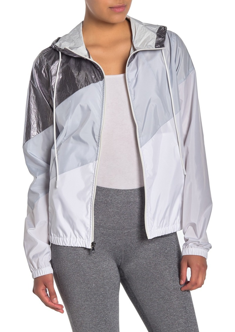 Betsey Johnson Metallic Colorblock Windbreaker Jacket