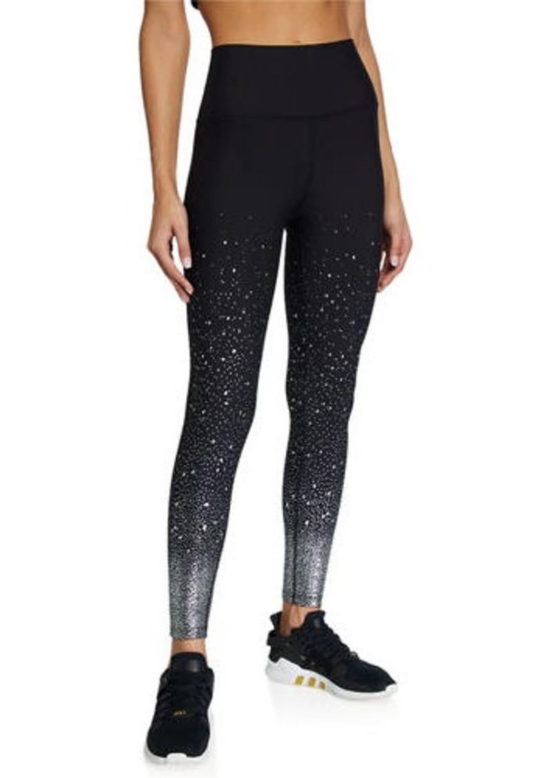 Betsey Johnson Metallic Star High-Rise Leggings