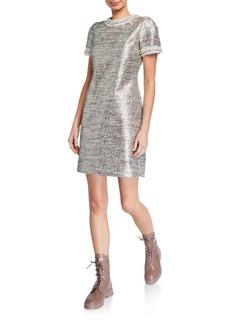 Betsey Johnson Metallic Tweed Dress