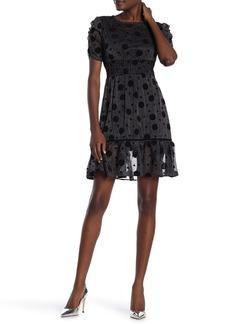 Betsey Johnson Metallic Velvet Dot Dress