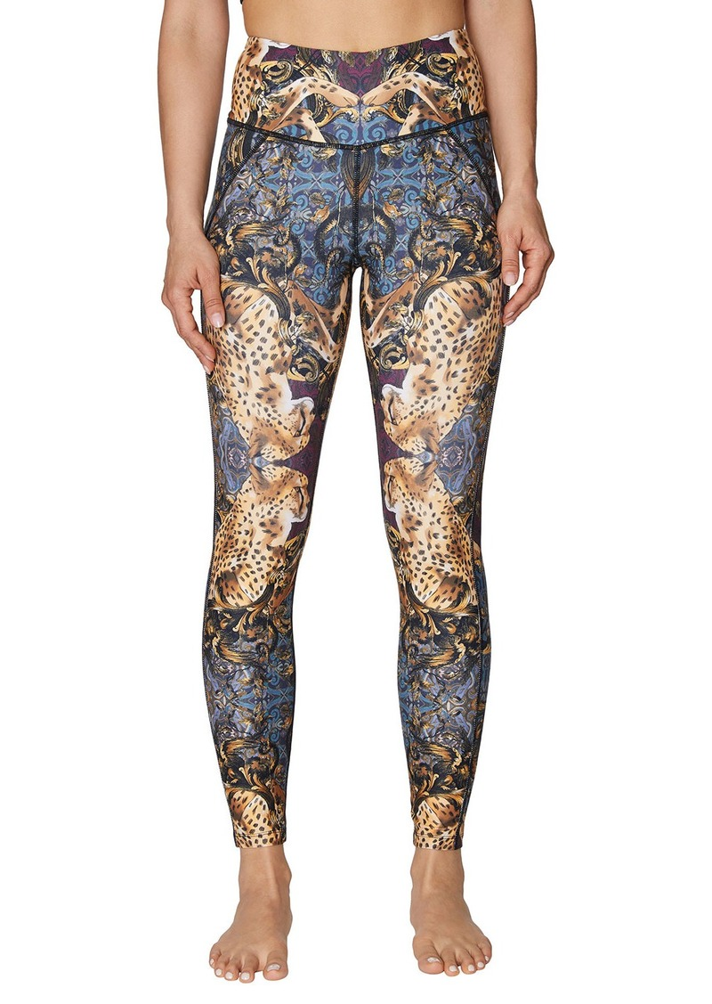 Betsey Johnson Mirrored Leopard Print Extra High-Rise Ankle Leggings
