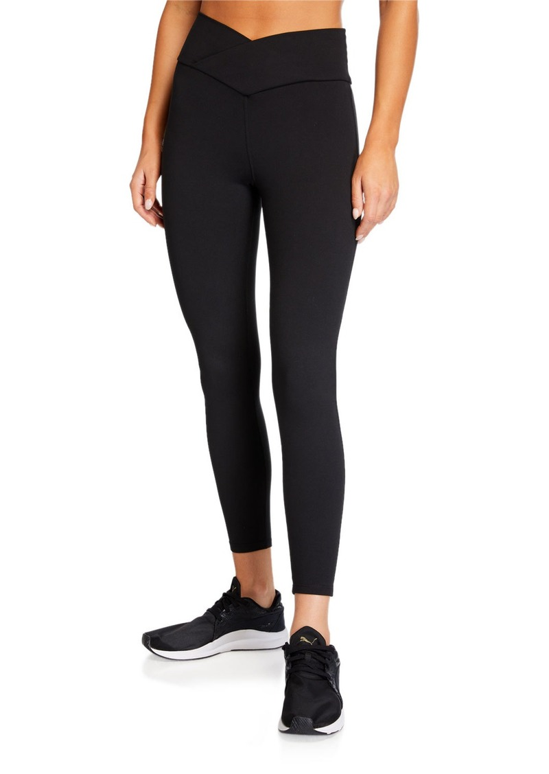 Betsey Johnson Mitered-Waist Cropped Leggings