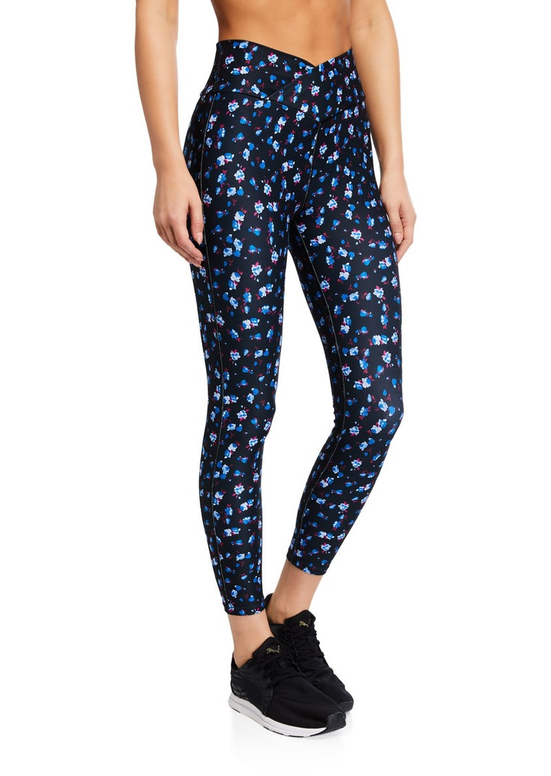 Betsey Johnson Mitered Waist Floral Leggings