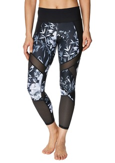 Betsey Johnson Mixed-Media Mesh Printed Leggings