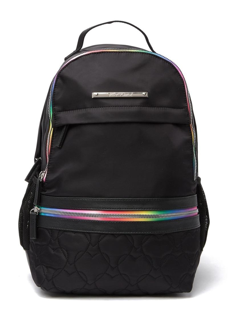 Betsey Johnson Mixed Prints Nylon Backpack
