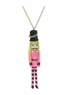 Betsey Johnson Nutcracker Pendant Necklace