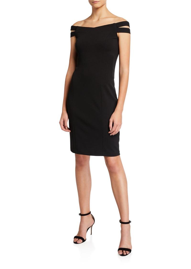 Betsey Johnson Off-The-Shoulder Sheath Dress
