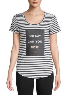 Betsey Johnson Oh Say Rose Stripe Tee