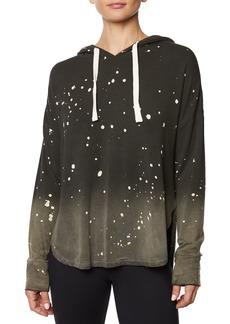 Betsey Johnson Paint Splatter Bleached Hooded Sweatshirt
