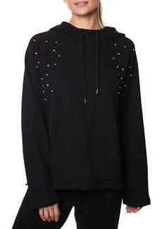 Betsey Johnson Pearl Studded Hoodie Sweatshirt