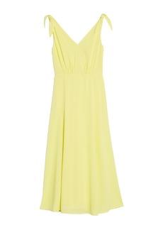 Betsey Johnson Pebble Crepe Midi Dress