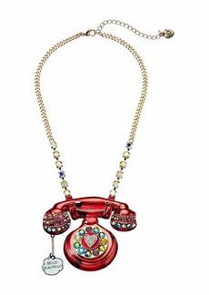Betsey Johnson Phone Pendant Necklace