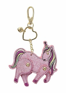 Pink Glitter Moveable Unicorn in a Betsey Johnson Pouch