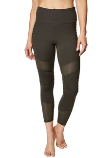 Betsey Johnson Pintuck Mesh Paneled 7/8 Leggings