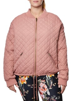 Betsey Johnson Plus Size Reversible Quilted Bomber Jacket