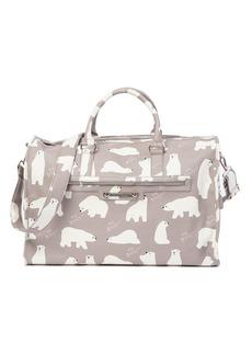 Betsey Johnson Polar Bear Print Weekend Bag