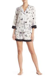 Betsey Johnson Printed 2-Piece Pajama Set