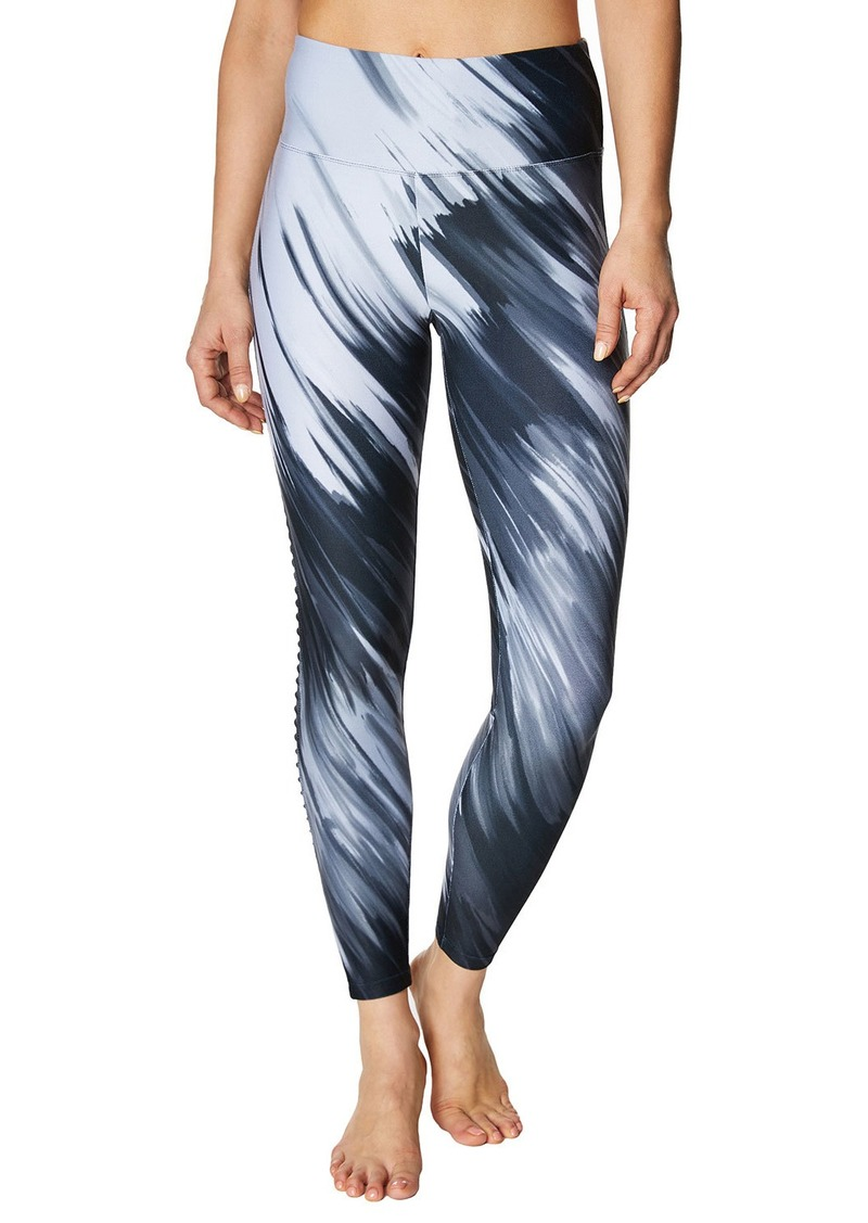 Betsey Johnson Printed 7/8 Leggings with Side Pintuck