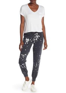 Betsey Johnson Printed Drawstring Knit Sweatpants
