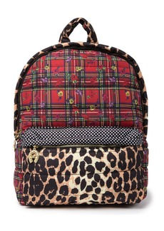 Betsey Johnson Printed Puffs Medium Backpack