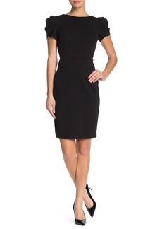 Betsey Johnson Puff Sleeve Midi Dress
