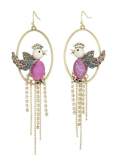 Purple Bird Cage Orbital Earrings