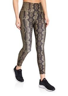 Betsey Johnson Python Print High Rise Leggings