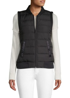 Betsey Johnson Quilted Full-Zip Vest