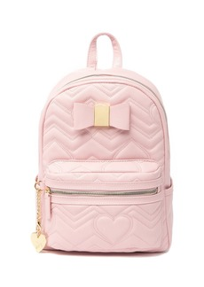 Betsey Johnson Quilted Heart Mini Backpack