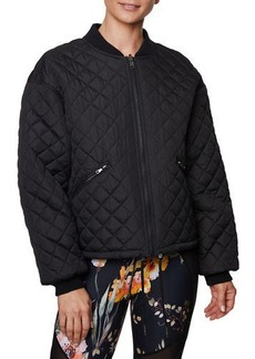 Betsey Johnson Quilted Reversible Bomber Jacket