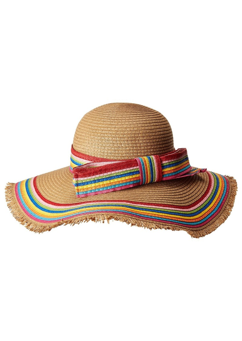 Betsey Johnson Rainbow Raw Edge Floppy Hat  238438a5f